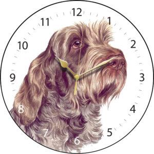 Italian Spinone Dog Clock