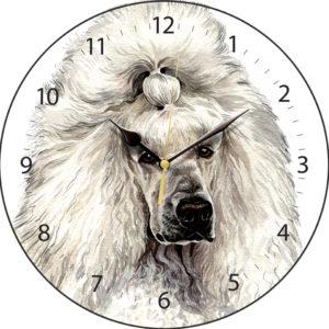 White Poodle Dog Clock