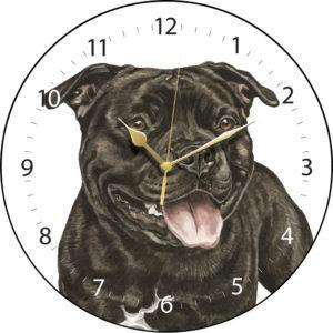 Staffordshire Bull Terrier Dog Clock