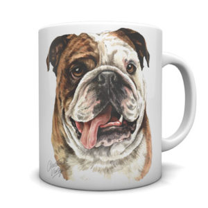 British Bulldog Ceramic Mug by Waggydogz