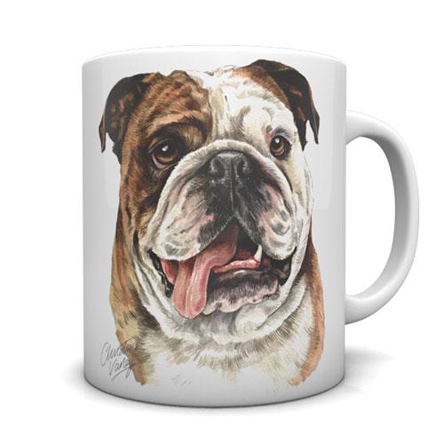 British Bulldog Ceramic Mug by Waggydogz
