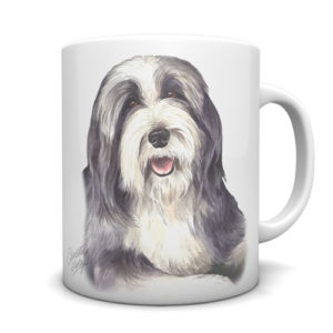 Bearded Collie Ceramic Mug by Waggydogz