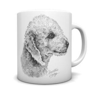 Bedlington Terrier Ceramic Mug by Waggydogz