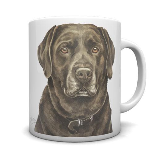Chocolate Labrador Ceramic Mug by Waggydogz