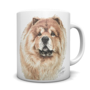 Chow Chow Ceramic Mug by Waggydogz