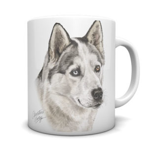 Siberian Husky Ceramic Mug by Waggydogz