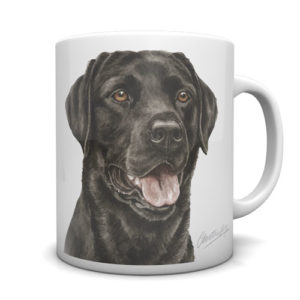 Black Labrador Ceramic Mug by Waggydogz