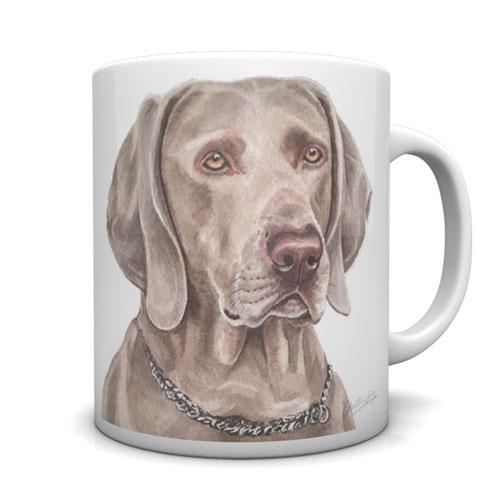 Weimaraner Ceramic Mug by Waggydogz
