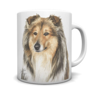 Rough Collie Ceramic Mug by Waggydogz