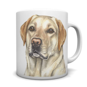 Golden Labrador Ceramic Mug by Waggydogz