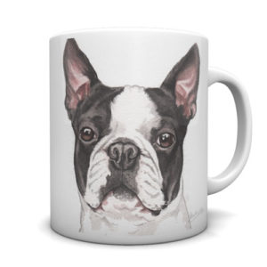 Boston Terrier Ceramic Mug by Waggydogz