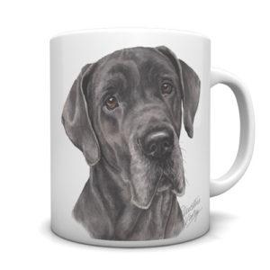 Great Dane Ceramic Mug by Waggydogz