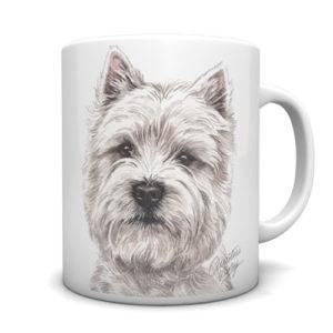 West Highland Terrier Ceramic Mug by Waggydogz