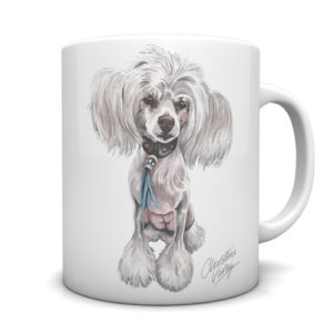 Chinese Crested Ceramic Mug by Waggydogz