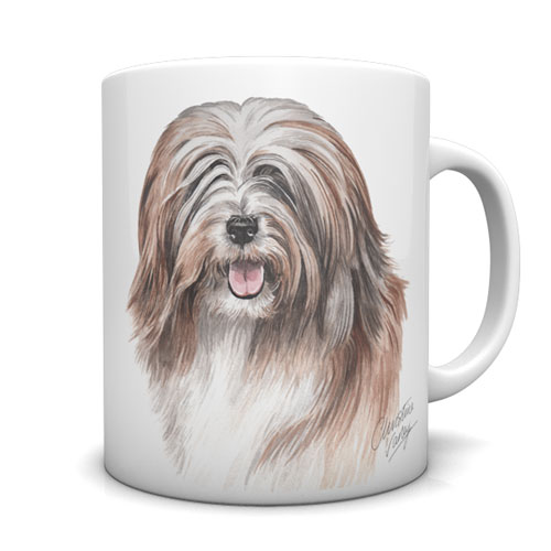 Tibetan Terrier Ceramic Mug by Waggydogz