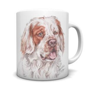 Clumber Spaniel Ceramic Mug by Waggydogz