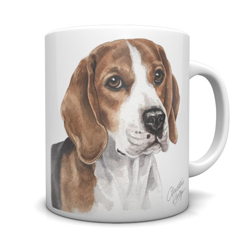 Beagle Ceramic Mug by Waggydogz