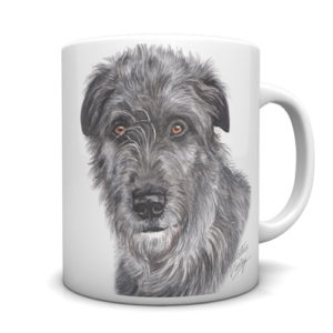 Irish Wolfhound Ceramic Mug by Waggydogz