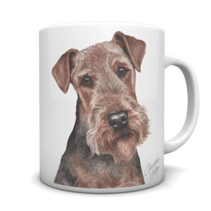 Airedale Terrier Ceramic Mug by Waggydogz