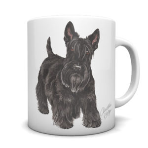 Scottish Terrier Ceramic Mug by Waggydogz