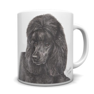 Black Poodle Ceramic Mug by Waggydogz