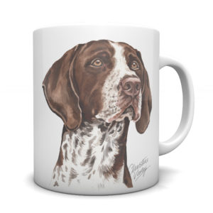 German Shorthaired Pointer Ceramic Mug by Waggydogz