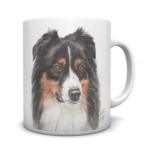 Australian Shepherd Ceramic Mug by Waggydogz