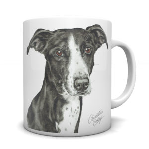 Lurcher Ceramic Mug by Waggydogz