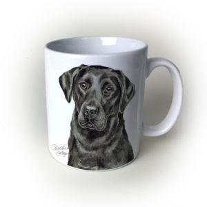 Black Labrador Dog Ceramic Mug by Waggydogz
