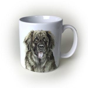 Leonberger Dog Ceramic Mug by Waggydogz