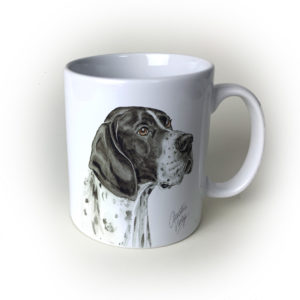 English Pointer Dog Ceramic Mug by Waggydogz