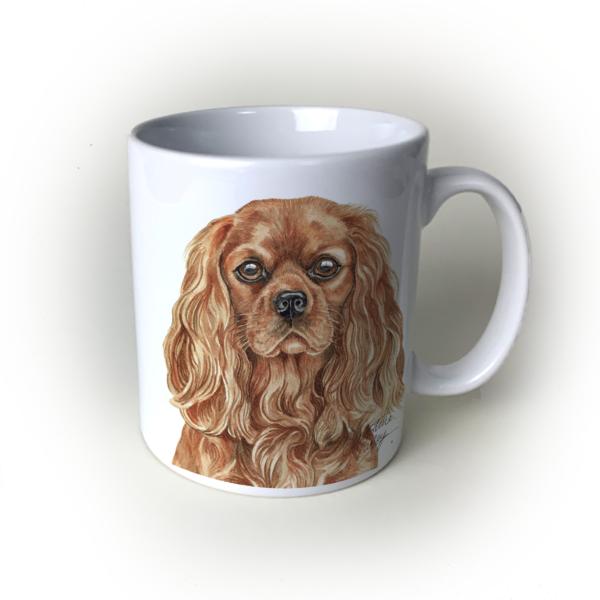 Ruby Cavalier King Charles Spaniel dog mug
