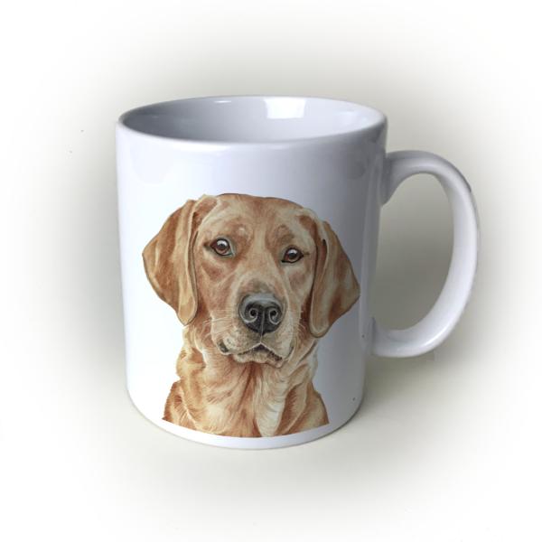 Fox Red Labrador dog mug