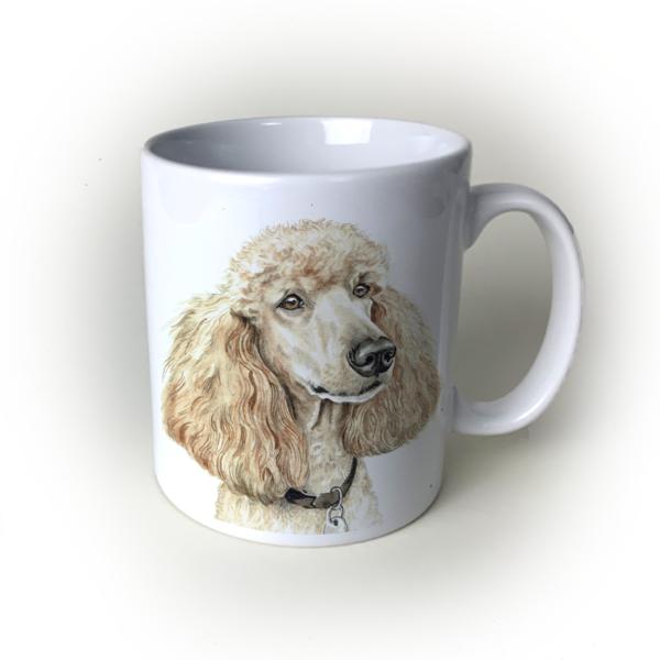 Apricot Poodle dog mug