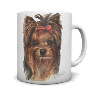 Yorkshire Terrier Ceramic Mug by Waggydogz