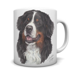 Bernese Mountain Dog Ceramic Mug by Waggydogz