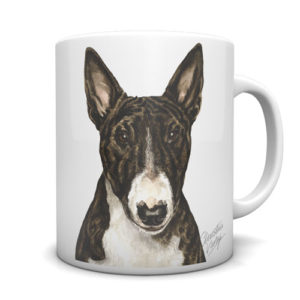 English Bull Terrier Ceramic Mug by Waggydogz