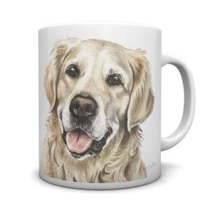 Golden Retriever Ceramic Mug by Waggydogz