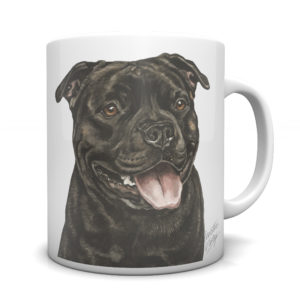 Staffordshire Bull Terrier Ceramic Mug by Waggydogz