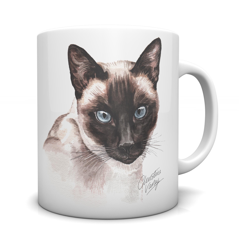 Siamese Cat Ceramic Mug Cmg Ec12 Waggydogz