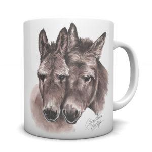 Donkeys Ceramic Mug by Waggydogz