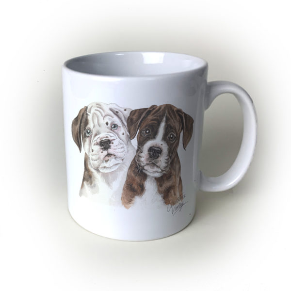 Boxer Ceramic Mug by Waggydogz
