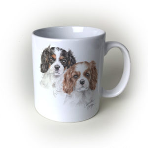 Cav King Charles Ceramic Mug by Waggydogz