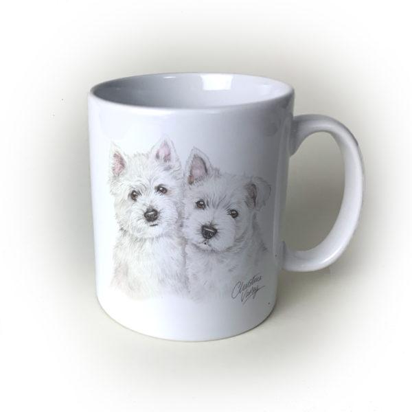 Westies Ceramic Mug by Waggydogz