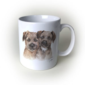 Border Terriers Ceramic Mug by Waggydogz