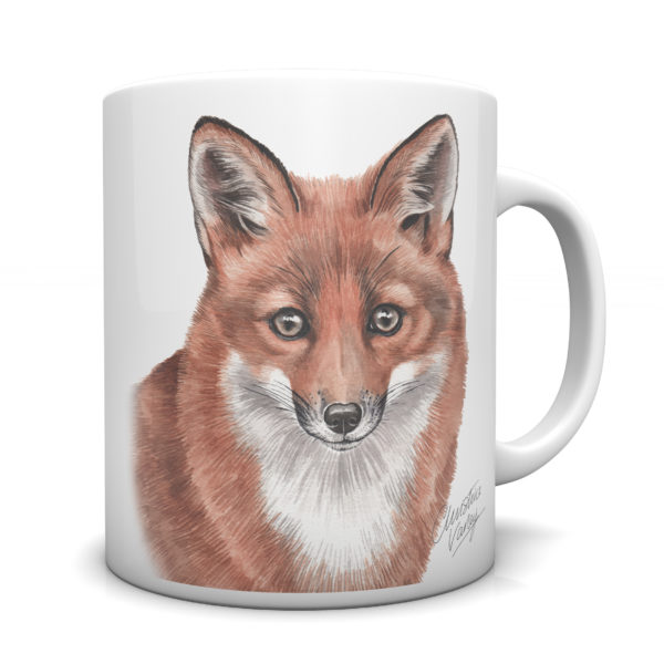 Fox Ceramic Mug by Waggydogz
