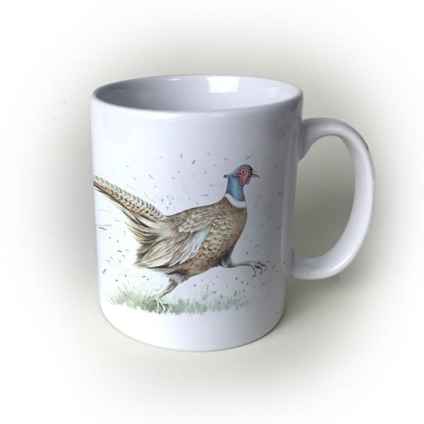 Pheasant ceramic mug
