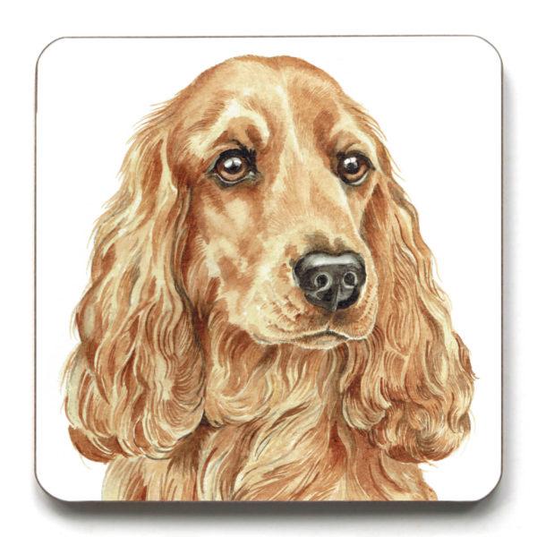 Golden Cocker Spaniel Dog breed Coaster (CST-258)