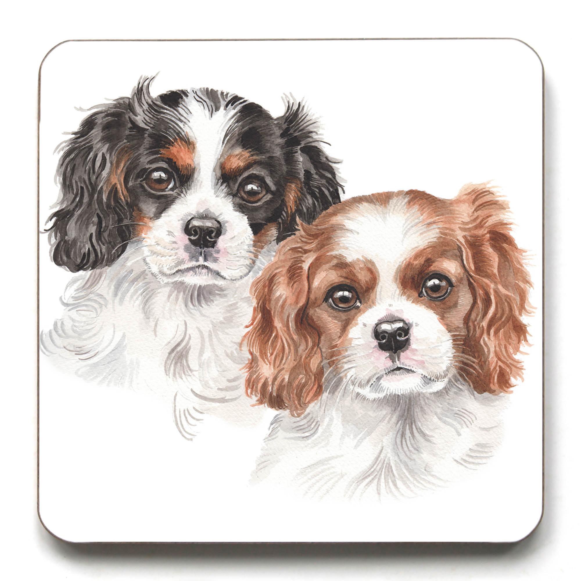 Cavalier King Charles Spaniel Puppies Coaster Cst Pu04 Waggydogz