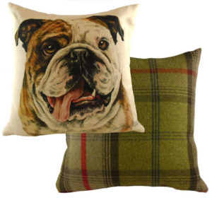 British Bulldog Dog Cushion